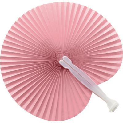 Image of Paper hand held fan with plastic handle
