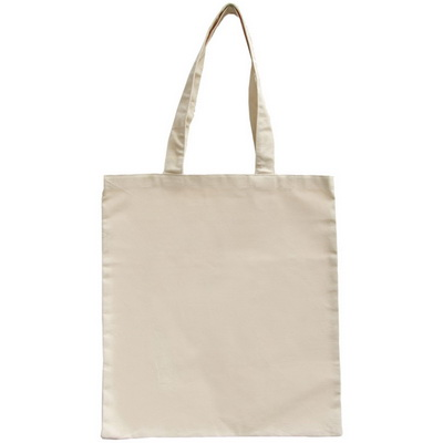 Image of Natural 10oz Flat Canvas Shopper Bag